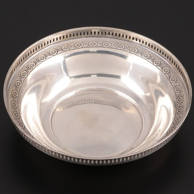 Watson Sterling Silver Pierced Rim Bonbon Bowl, Late 19th/Early 20th C.