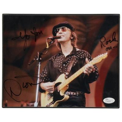 "Dion Signed ""Yo You, Rock On"" Framed Photo Print, JSA COA"