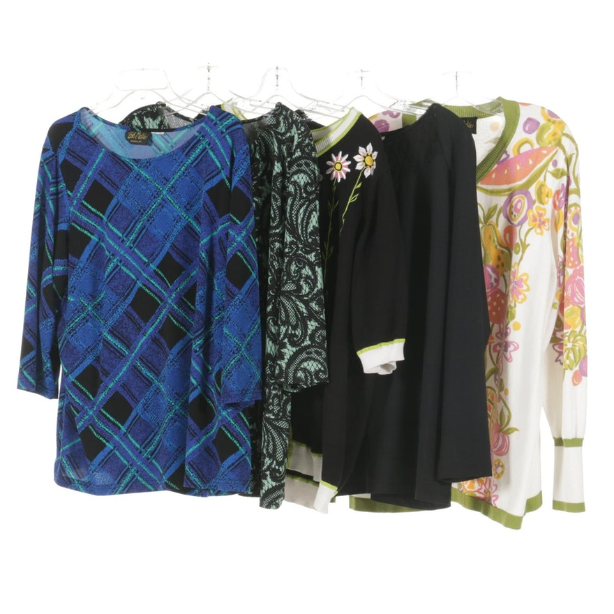 Bob Mackie Wearable Art Tops, Sweaters and Cardigans