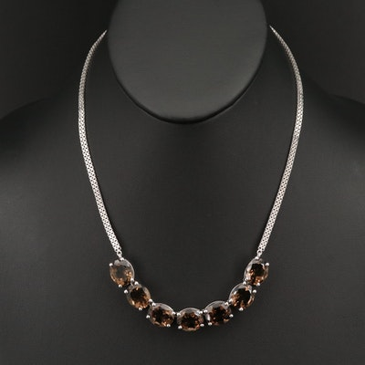 Sterling Smoky Quartz Necklace