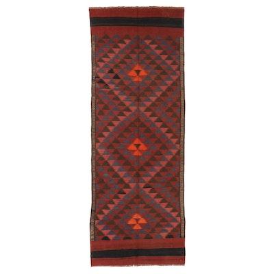 4'6 x 12'4 Handwoven Afghan Kilim Long Rug