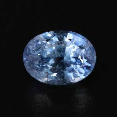 Loose 6.21 CT Unheated Sapphire with GIA Report