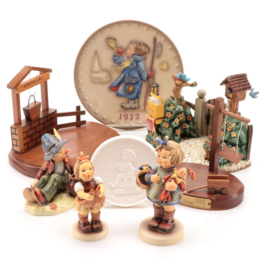 Goebel Porcelain Hummel Figurines, Display Stands and Collector's Plates