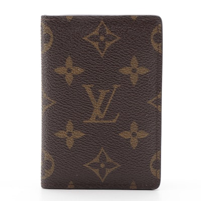 Louis Vuitton Pocket Organizer Wallet in Monogram Canvas