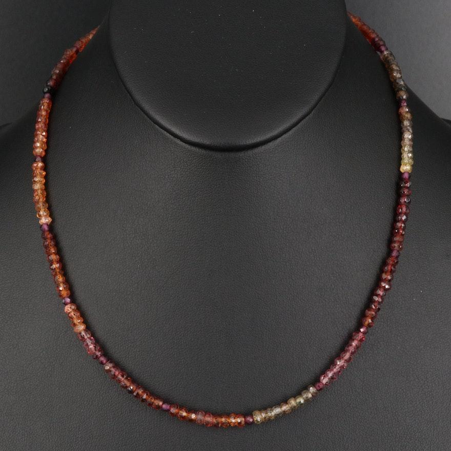 Garnet and Tourmaline Beaded Necklace