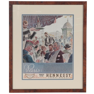 Promotional Offset Lithograph for Hennessy Conac Brandy, 21st Century