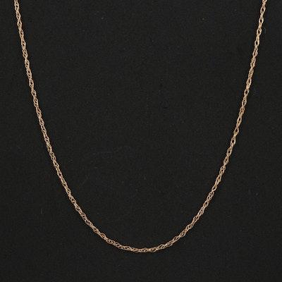 14K Singapore Link Necklace