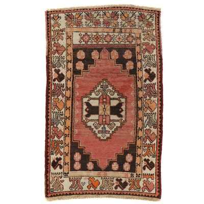 3'1 x 5' Hand-Knotted Turkish Village Area Rug