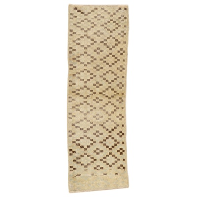 1'10 x 5'9 Hand-Knotted Turkish Wool Carpet Runner