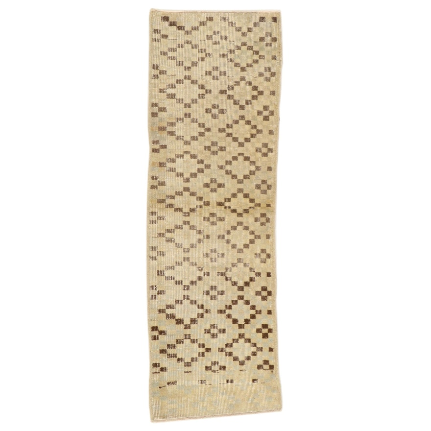 1'10 x 5'9 Hand-Knotted Turkish Wool Carpet Runner