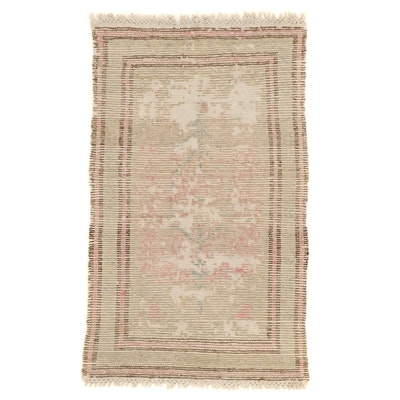 2'8 x 4'8 Hand-Knotted Turkish Oushak Accent Rug