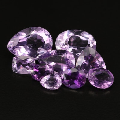 Loose 40.66 CTW Faceted Amethysts