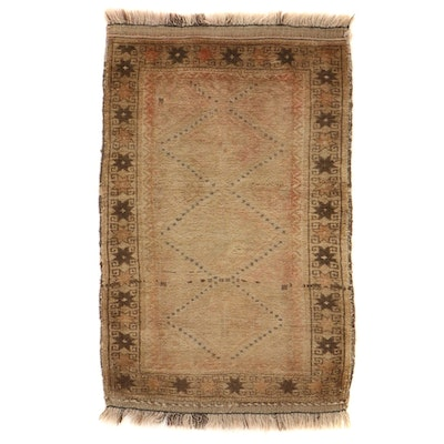 2'2 x 3'5 Hand-Knotted Baluch Wool Accent Rug