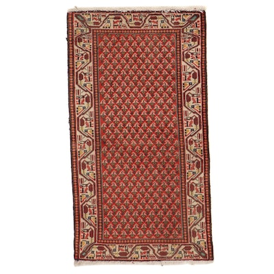 2'2 x 4' Hand-Knotted Northwest Persian Mir Wool Accent Rug