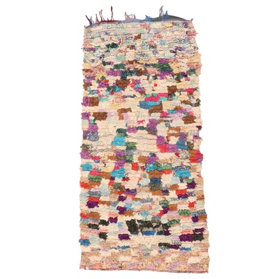 3'4 x 7'6 Hand-Knotted Moroccan Rag Rug