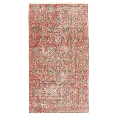 2'10 x 5'4 Hand-Knotted Turkish Oushak Wool Area Rug