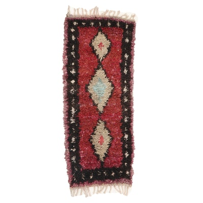 2'8 x 7' Hand-Knotted Moroccan Rag Rug