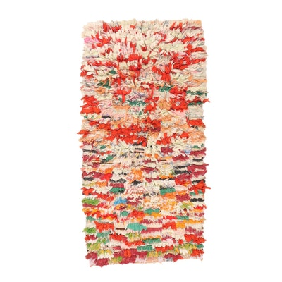 2'10 x 5'7 Hand-Knotted Rag Rug Accent Rug