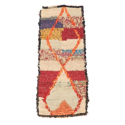 2'5 x 5'3 Hand-Knotted Moroccan Rag Rug