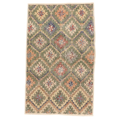 4' x 6'7 Hand-Knotted Turkish Village Wool Area Rug
