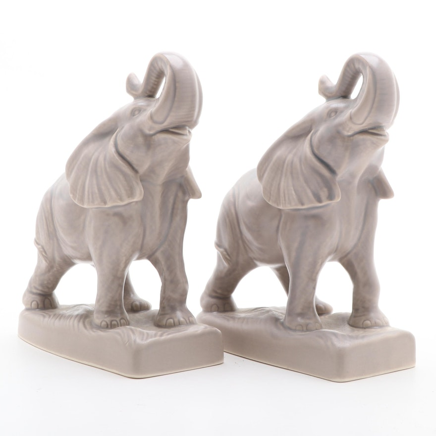 Gary David Simon for Rookwood Pottery Elephant Bookends, 2018