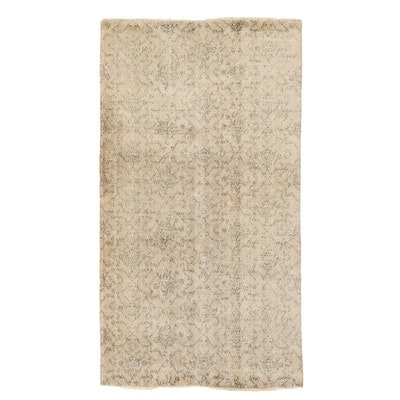 4'11 x 8'10 Hand-Knotted Turkish Oushak Wool Area Rug
