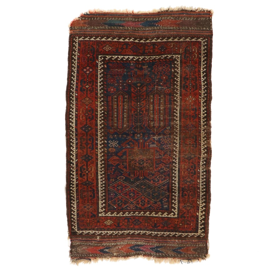 3'3 x 5'8 Hand-Knotted Wool Area Rug