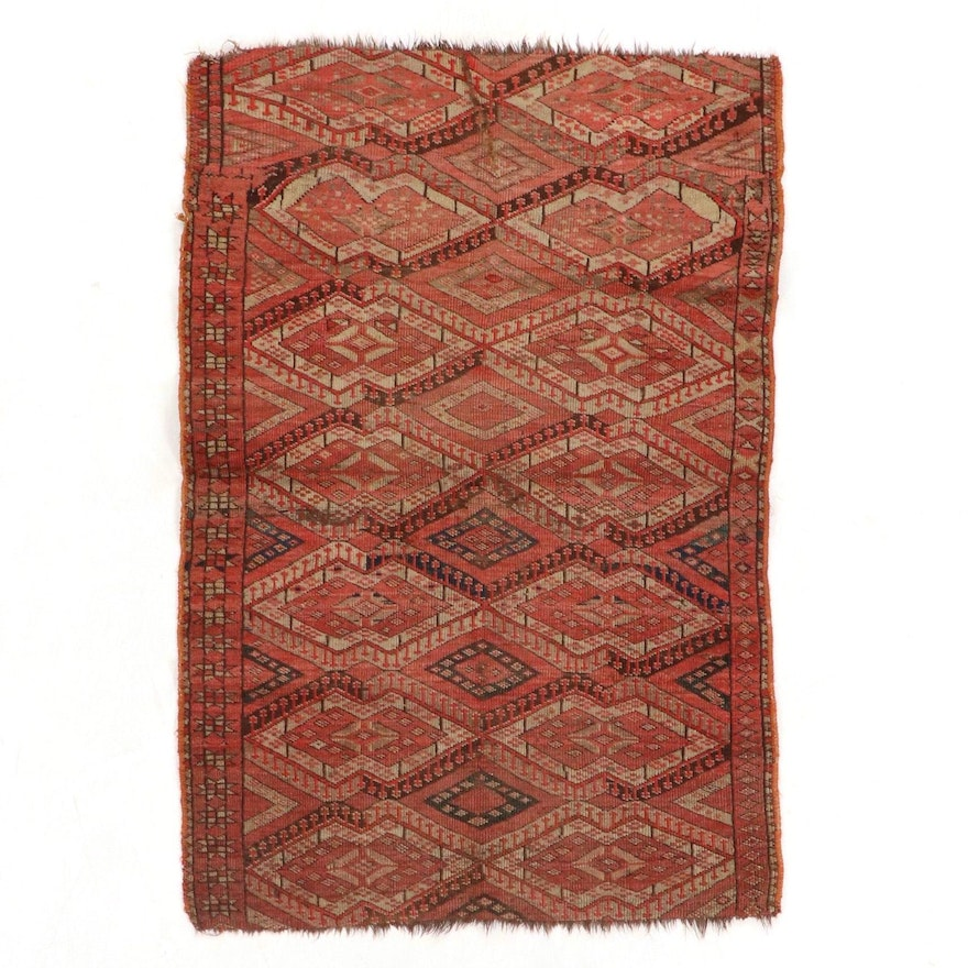 3'1 x 4'6 Hand-Knotted Wool Accent Rug