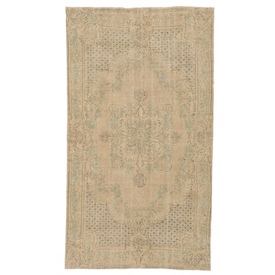 5' x 9'1 Hand-Knotted Turkish Wool Oushak Area Rug
