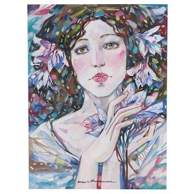 Maria Ramazanova Mixed Media Painting, 2021