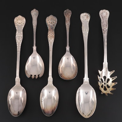 "Gorham ""Kings"" F.B. Rogers, and Other Silver Plate Serving Utensils"