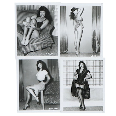 Bettie Page Pin-up Silver Gelatin Prints after Irving Klaw