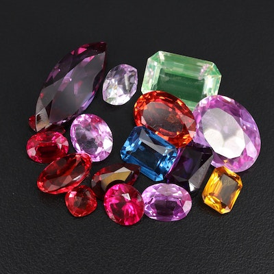 Loose Laboratory Grown Faceted Sapphires and Spinels
