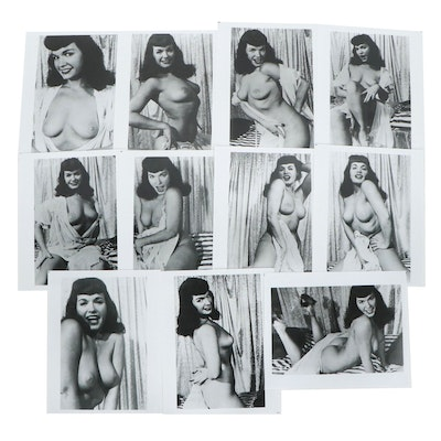 Bettie Page Nude Pin-up Silver Gelatin Prints