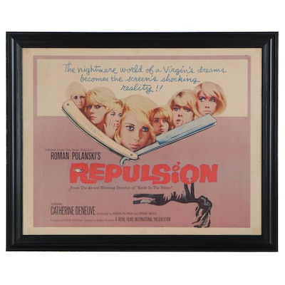 """Repulsion"" Offset Lithograph One-Sheet Framed Film Poster, 1965"