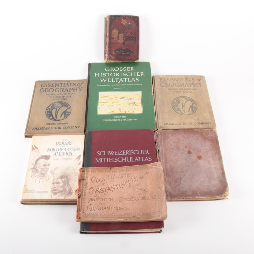 Atlases, History, and Geography Books, Late 19th to Mid-20th Century
