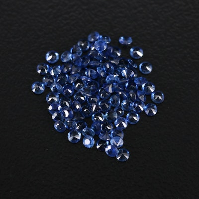 Loose 3.05 CTW Round Faceted Sapphires