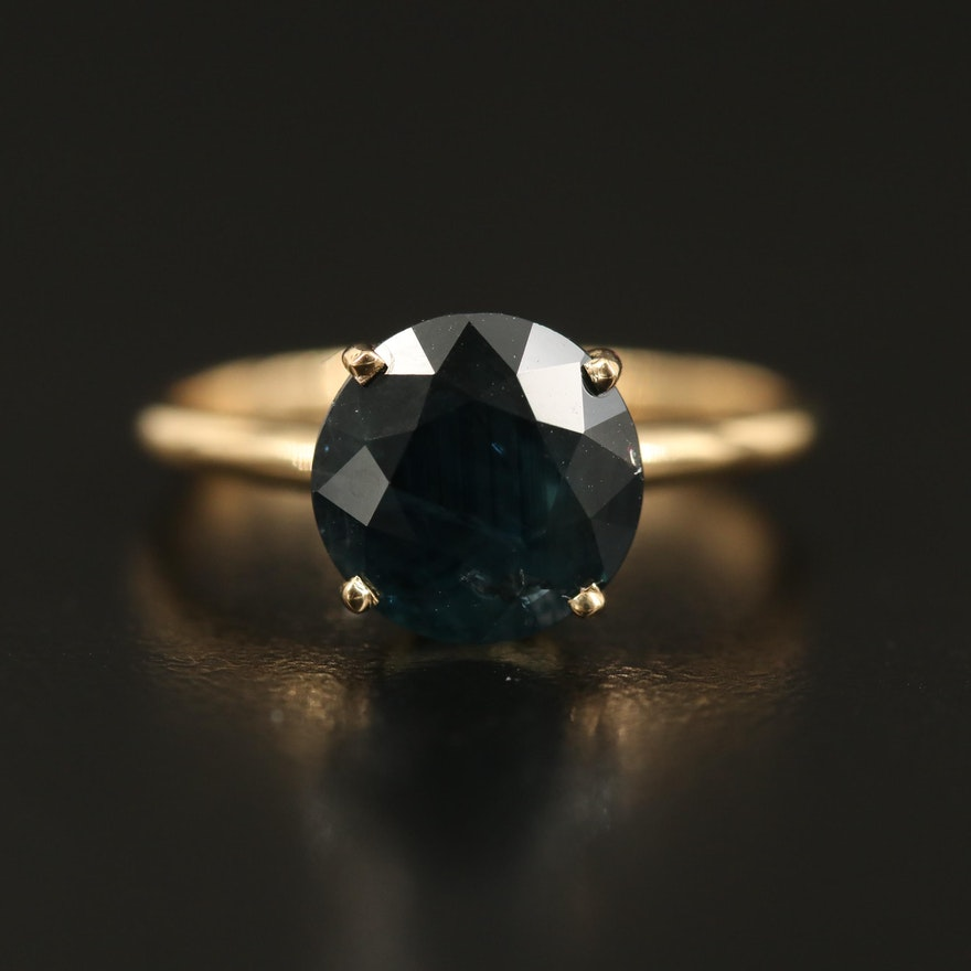 18K 3.57 CT Sapphire Solitaire Ring
