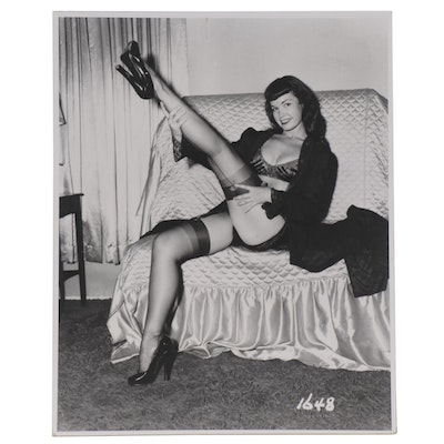 Bettie Page Pin-up Silver Print Photograph after Irving Klaw