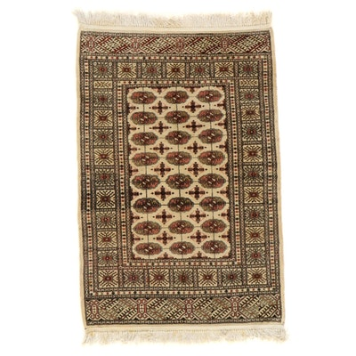 4' x 6'4 Hand-Knotted Pakistani Wool Area Rug