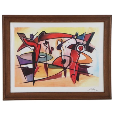 "Giclée after Alfred Gockel ""Afternoon Jam Session"""