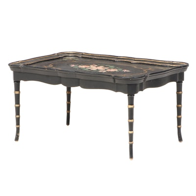 Lacquered and Hand-Painted Tray Coffee Table