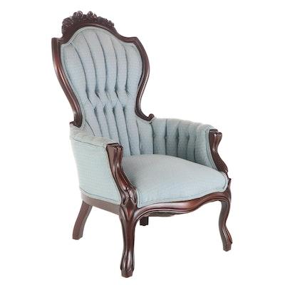 Pelham, Shell & Leckie Rococo Revival Style Mahogany Parlor Chair