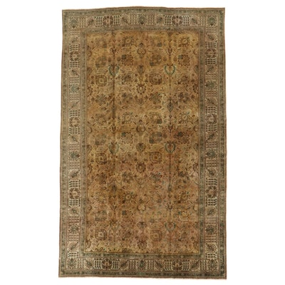 9'9 x 15'9 Hand-Knotted Persian Tabriz Wool Room Sized Rug