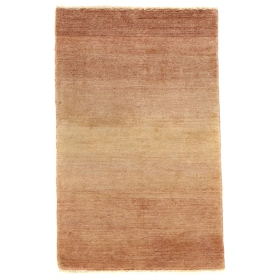 3'7 x 5' Hand-Knotted Gabbeh Wool Area Rug