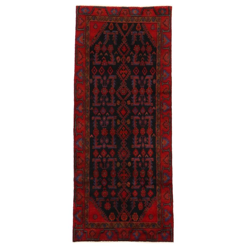 3'9 x 8'10 Hand-Knotted Persian Zanjan Rug, 1970s