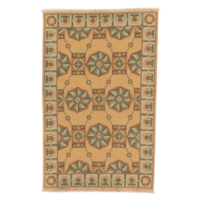3'6 x 5'7 Handwoven Sino-French Savonnerie Rug, 2010s