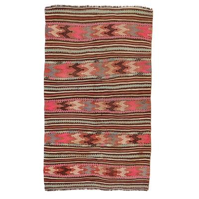 4'3 x 7'4 Handwoven Turkish Village Kilim Rug, 1990s