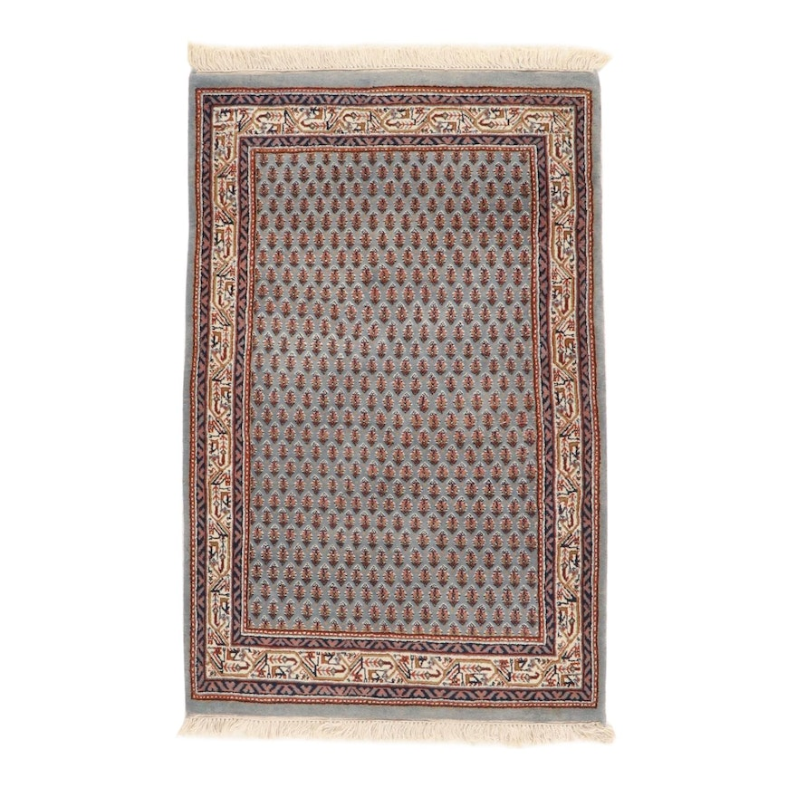 3'0 x 5'0 Hand-Knotted Indo-Persian Mir Sarouk Rug, 2000s