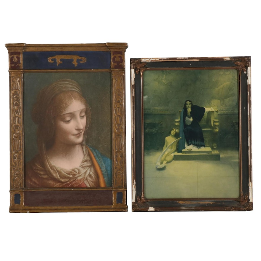 Offset Lithographs after Bernadino Luini and William Ladd Taylor